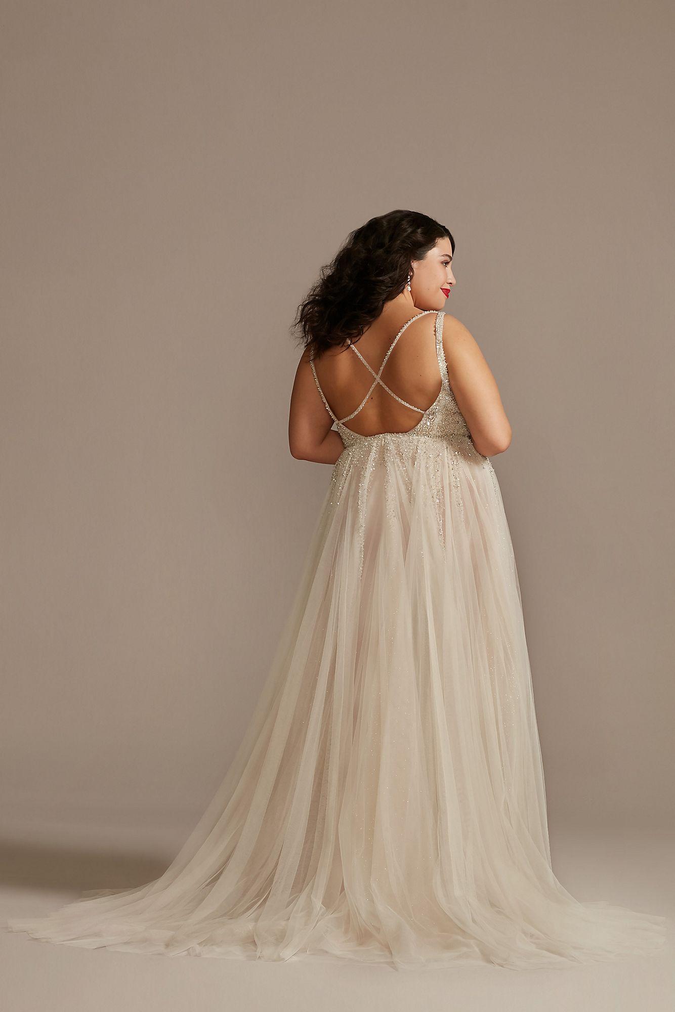 Beaded Illusion Plus Size Bodysuit Wedding Dress Galina Signature ...
